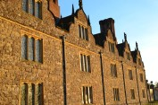 Knole House in the glow of a winter sunset