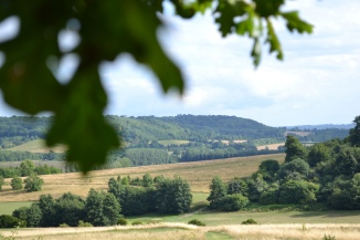 The Darenth valley from Lullingstone looking south east