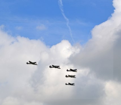 Spitfires and Hurricanes over Biggin Hill