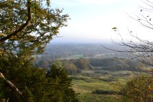 Wilmots Hill view (greensand escarpment) near Ightam Mote