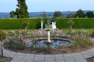 Emmett's rose garden and pond