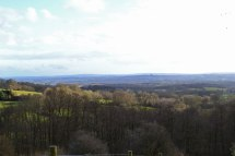 Looking out towards Bough Beech and Ashdown Forest from Scords wood