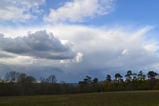 Thunderstorm over Edenbridge seen from Hill Hoath