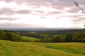 Ide Hill view autumn, dull day