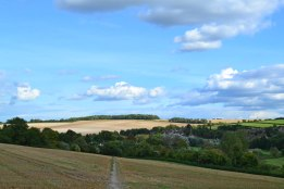 Looking back over Eynsford, point 3-4, walk 12