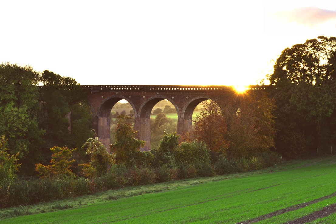 Railway viaduct, Eynsford, Kent