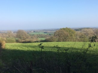 Looking towards Shipbourne from the greensand way near Ightam Mote (One Tree Hill walk)