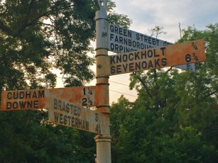 Signpost at Letts Green