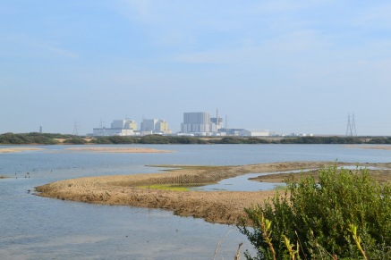 The nuke power station from the RSPB reserve, late summer 2017