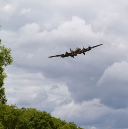 B17 Flying Fortress prepares to land at Biggin Hill, near Downe