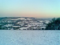 Filston Rd hill snow, Shoreham