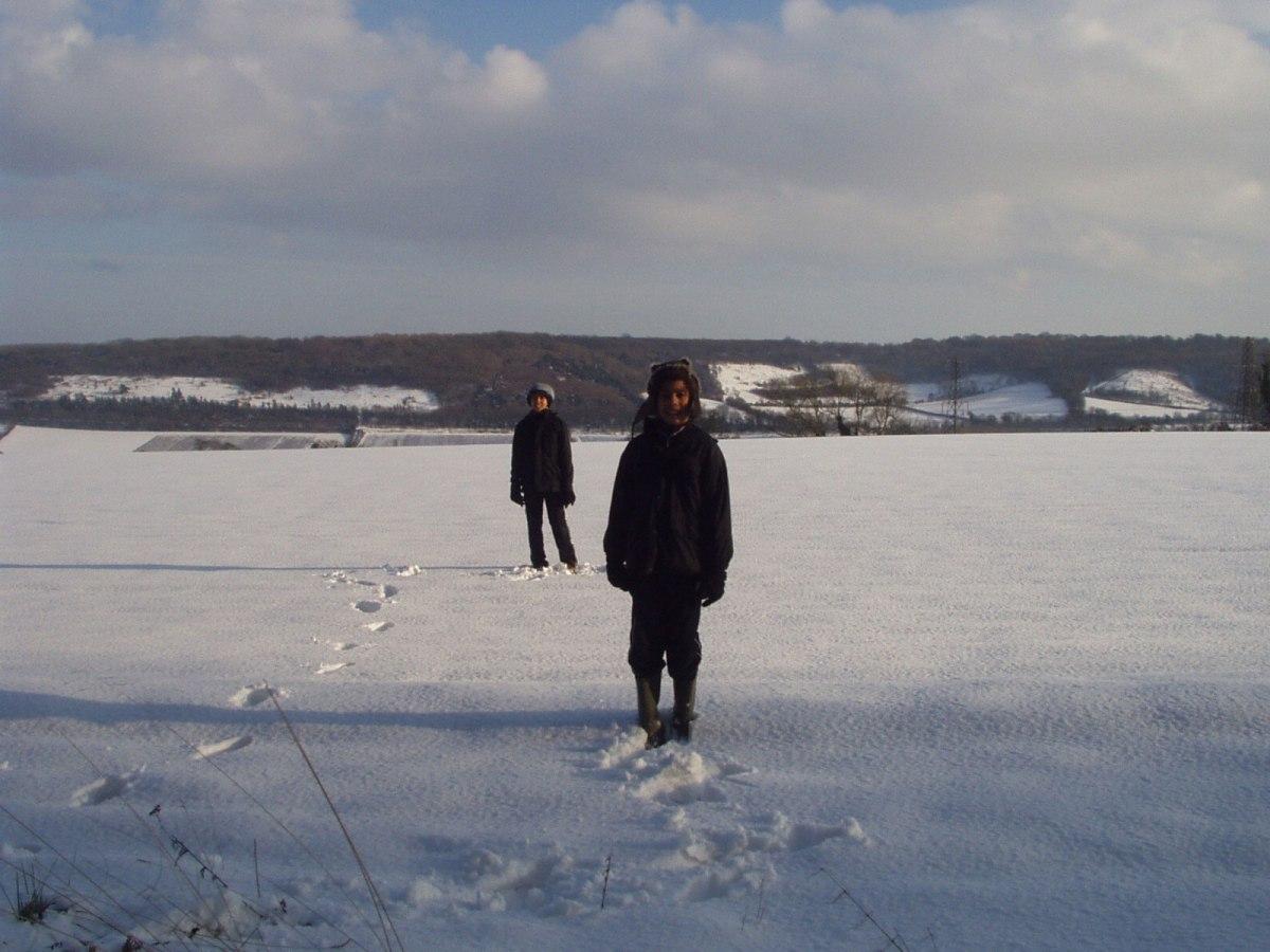 Lullingstone snow