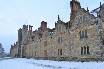 Knole House in snow