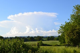 Anvil cloud to the north