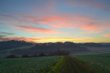 sunset Lullingstone, Kent