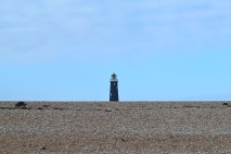 Old Lighthouse, Dungeness, and shingle bank