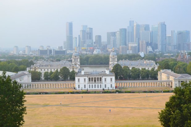 Greenwich in the murk