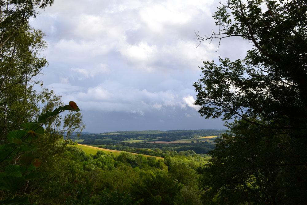 North Downs Way near Kemsing